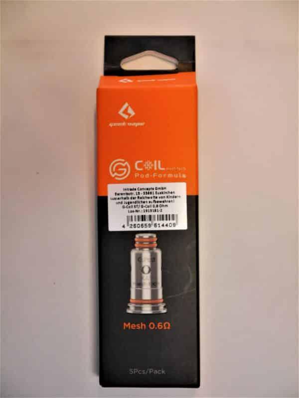 5x G Coil ST / G Coil Pod Formula Coil Verdampferkopf 0,6 Ohm