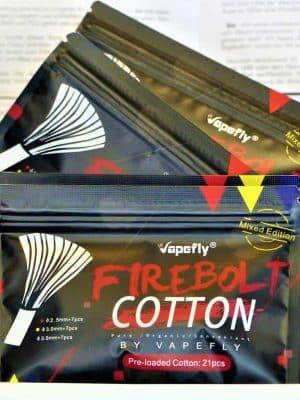 Firebolt Mixed Cutton Strands Wattesticks - VAPEFLY