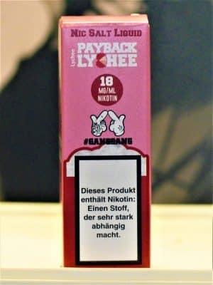 Payback Lychee Nikotinsalzliquid - #ganggang